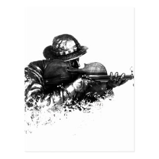 violin sniper postcard