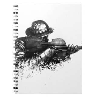 violin sniper spiral notebook