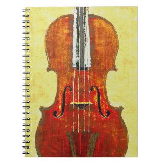 VIOLIN Spiral Notebook