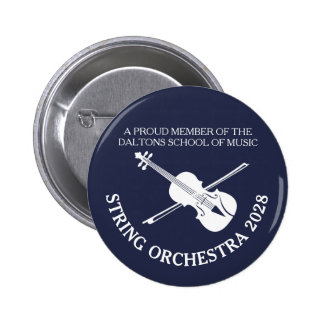 Violin strings orchestra personalized badge 2 inch round button