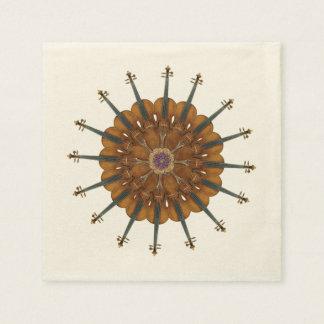 Violin Sunflower Paper Napkins