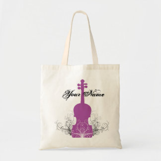 Violin Tote Magenta with Swirls