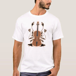 Violin & Tribal Artwork: Custom T-Shirt: White T-Shirt