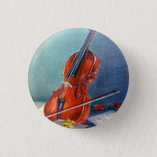 Violin/Violin 1 Inch Round Button