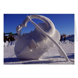 Violin - Winter Carnival, Quebec City Card