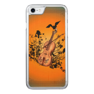 Violin wit bow carved iPhone 7 case