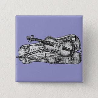 Violin with Case 2 Inch Square Button