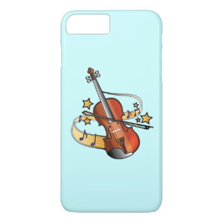 Violin with Notes and Stars iPhone 7 Plus Case