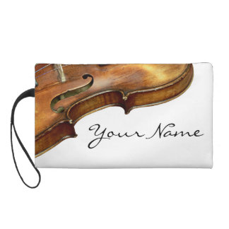 Violin Wristlet Personalize Name Music Classical