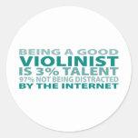 Violinist 3% Talent Round Sticker