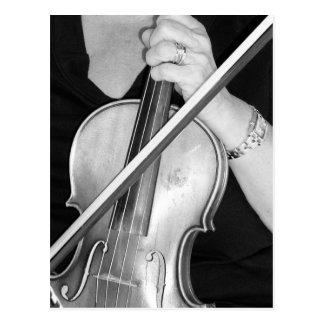 Violinist at Rest Postcard