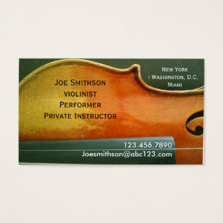 Violinist business card