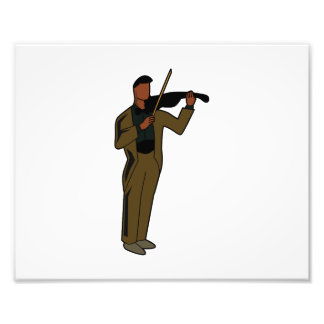 Violinist Male Figure Abstract brown.png Art Photo
