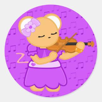 Violinist Mouse Sticker