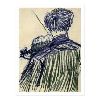 Violinist Seen from the Back Van Gogh Fine Art Postcard