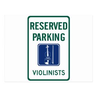 Violinists Parking Postcard