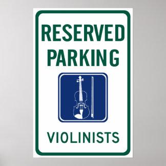 Violinists Parking Poster