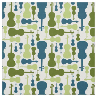 Violins - Blue and Green Fabric