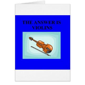 VIOLINS CARD