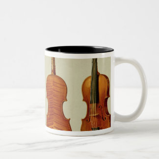 Violins (LtoR): the 'Alard' by Antonio Stradivariu Two-Tone Coffee Mug