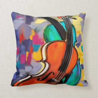 Violins Throw Pillow
