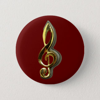 violinschlüssel treble clef 2 inch round button