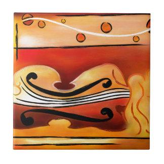 Vioselinna - violin backed beauty tile