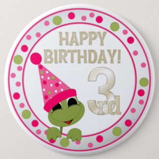 VIP 3rd Birthday Button