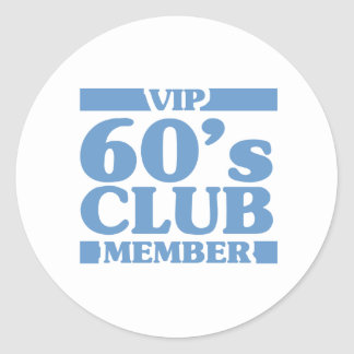 VIP 60's Club Classic Round Sticker