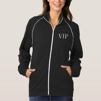VIP BLACK ZIP FRONT JACKET