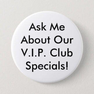 VIP Button - Black and white