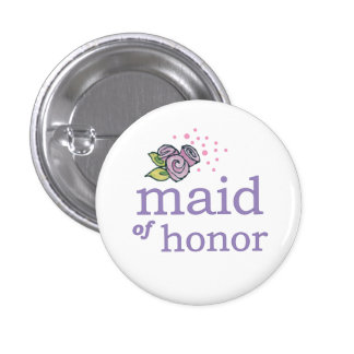 VIP Button   Maid of Honor Roses