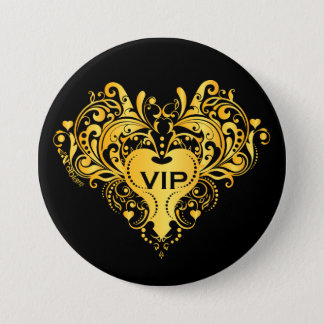 VIP gold 3 Inch Round Button