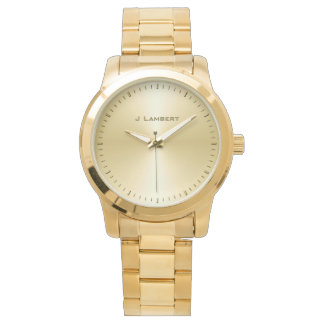 VIP Gold Custom Name Template Watch
