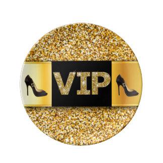 VIP Gold Diamonds High Heels Plate