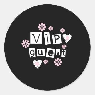 VIP Guest Flowers Classic Round Sticker