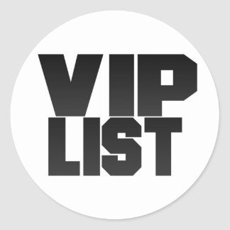 Vip List Sticker Sheet