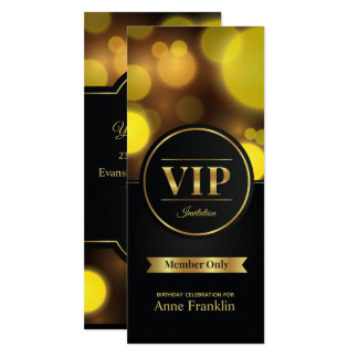 VIP member only birthday party invitation