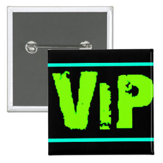vip neon green music dance party fun clubs exclusi 2 inch square button
