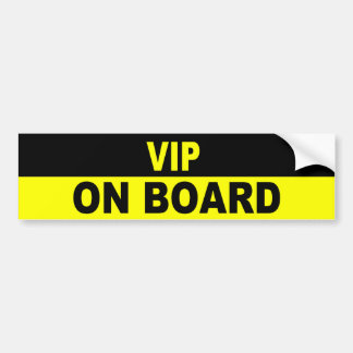 VIP ON BOARD BUMPER STICKER
