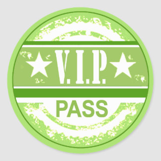 VIP Pass Party Sticker (lime)