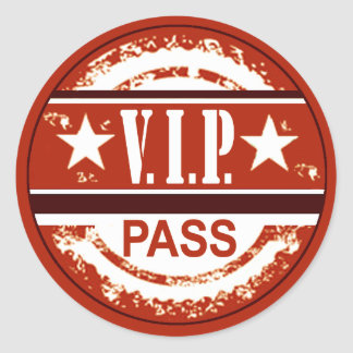 VIP Pass Party Sticker (russet)