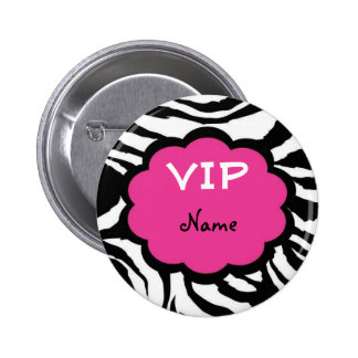 VIP Personalized Party Favor 2 Inch Round Button