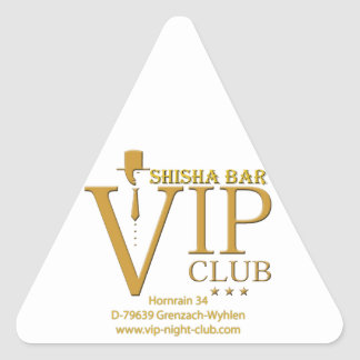 VIP Shisha fan article Triangle Sticker