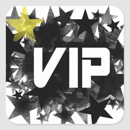 VIP SQUARE STICKER