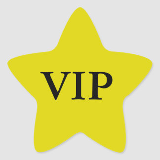 VIP Star Stickers