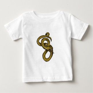 Viper Coiled Ready To Pounce Drawing Baby T-Shirt