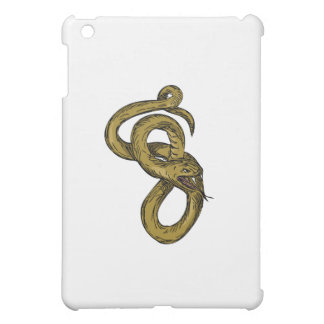 Viper Coiled Ready To Pounce Drawing iPad Mini Case
