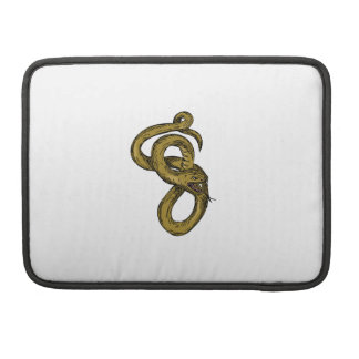 Viper Coiled Ready To Pounce Drawing Sleeve For MacBooks