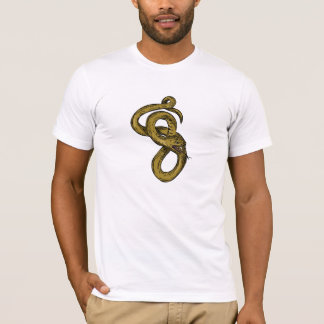 Viper Coiled Ready To Pounce Drawing T-Shirt